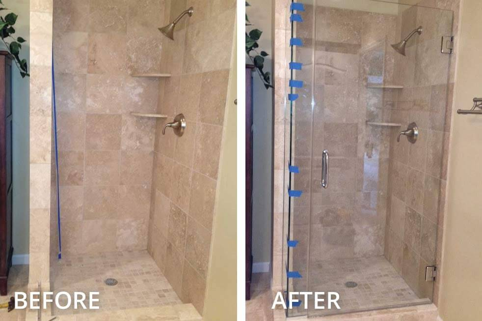 bathtub showers bathroom family door shower frameless reston herndon doors installation glass va