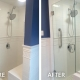 Before and After Shower Glass Installation